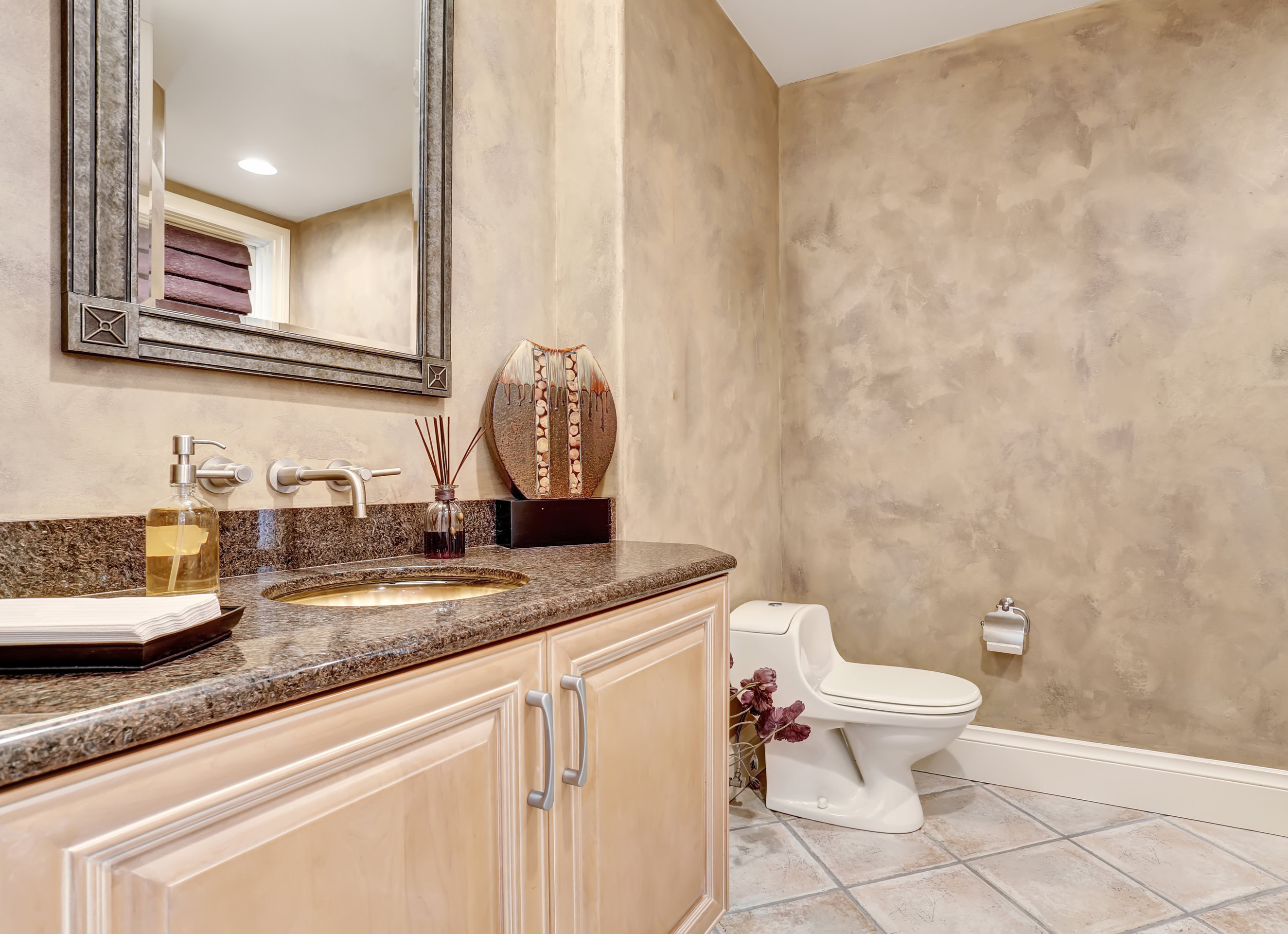 A half bathroom can add value to your home.